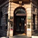 Door to reception of 1 Harley Street